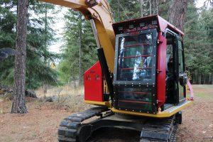Caterpillar 307E2 Ballistic Logger Style Window