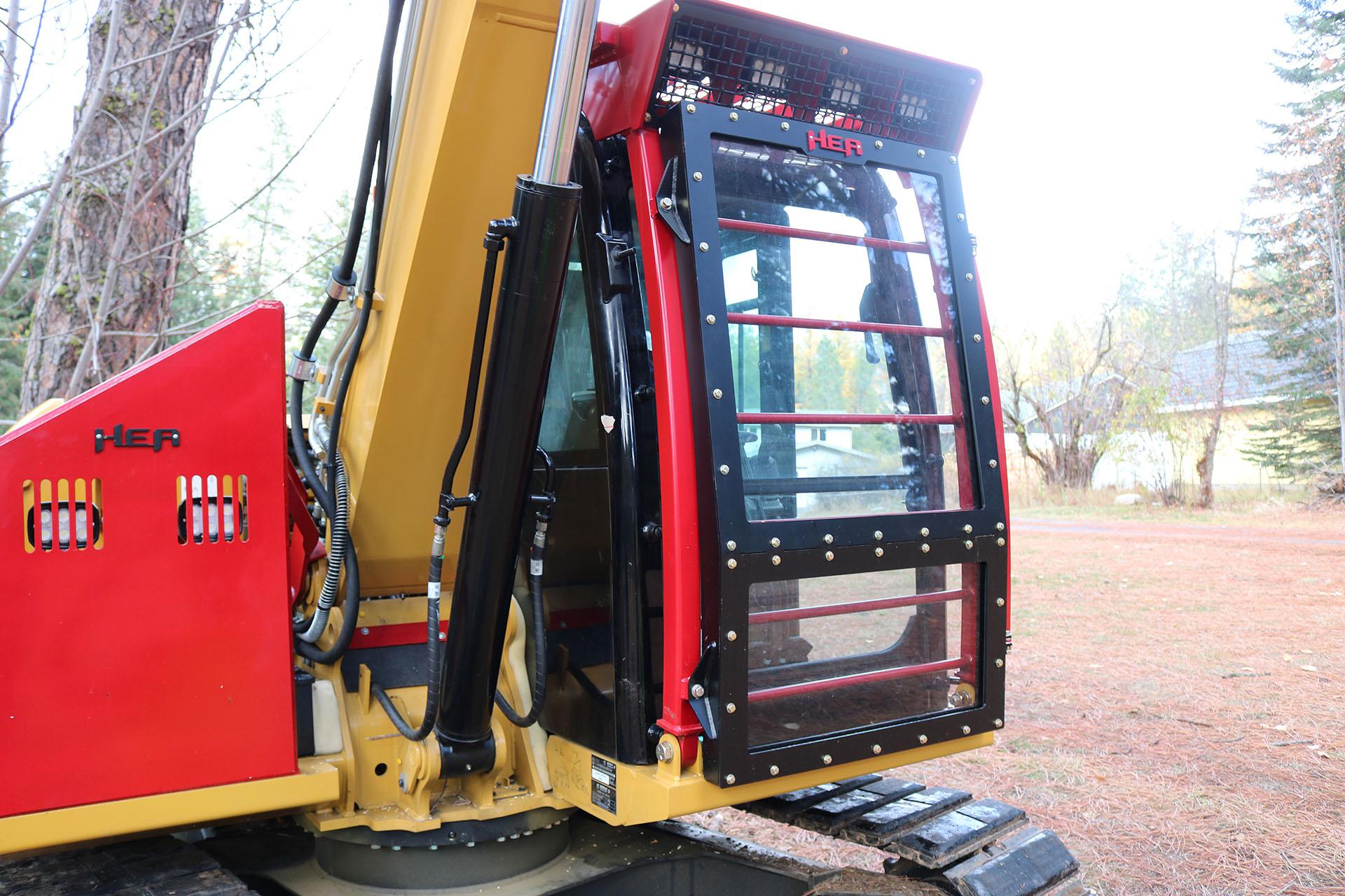 Cat 307E2 Ballistic Logger Style Window