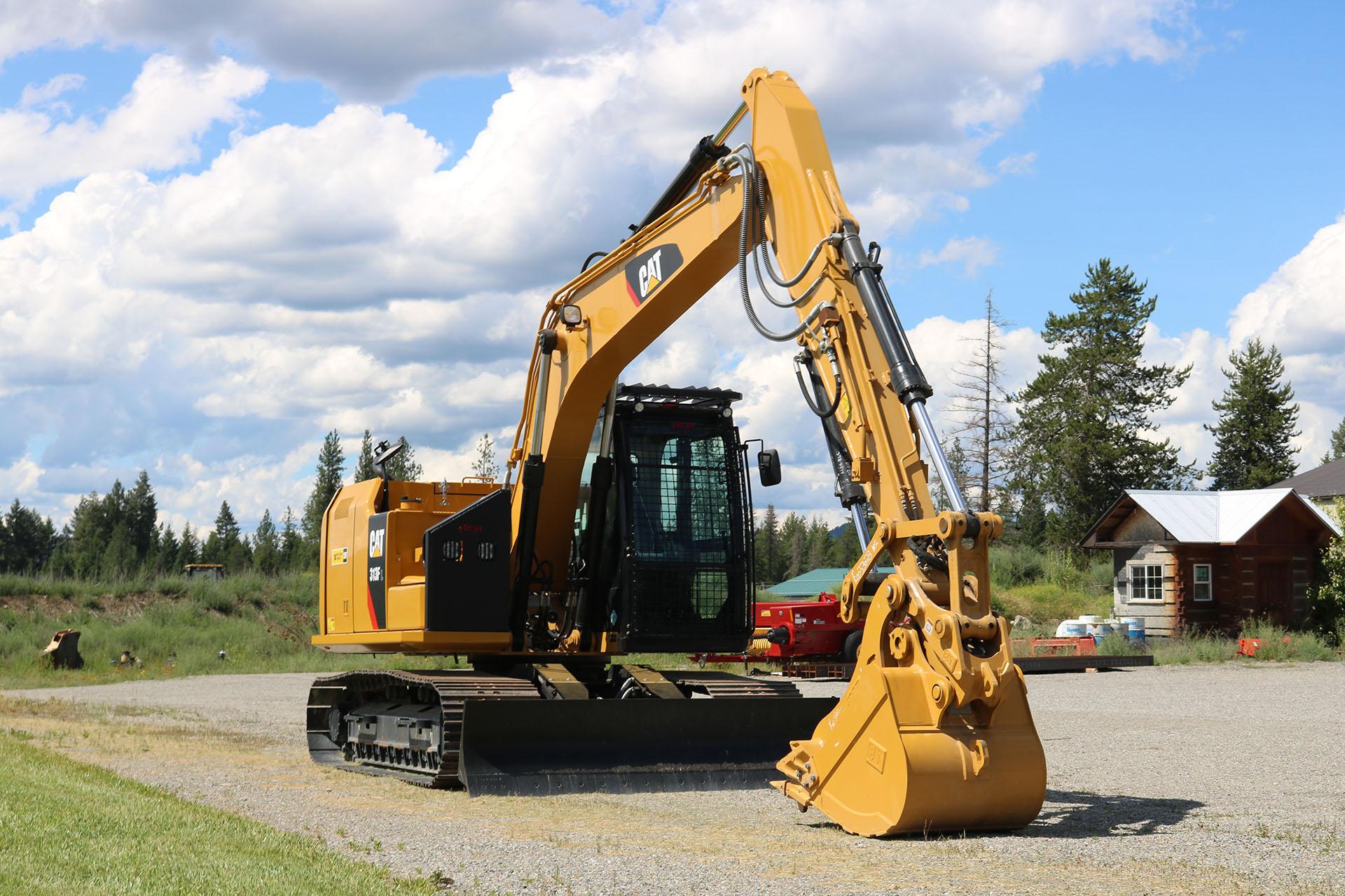 CAT 313F Bolt on Excavator Guard
