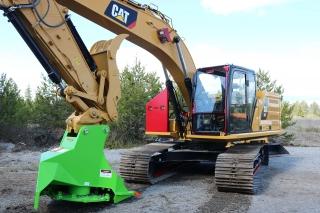 CAT 323 New Generation with Defender Ballistic Window