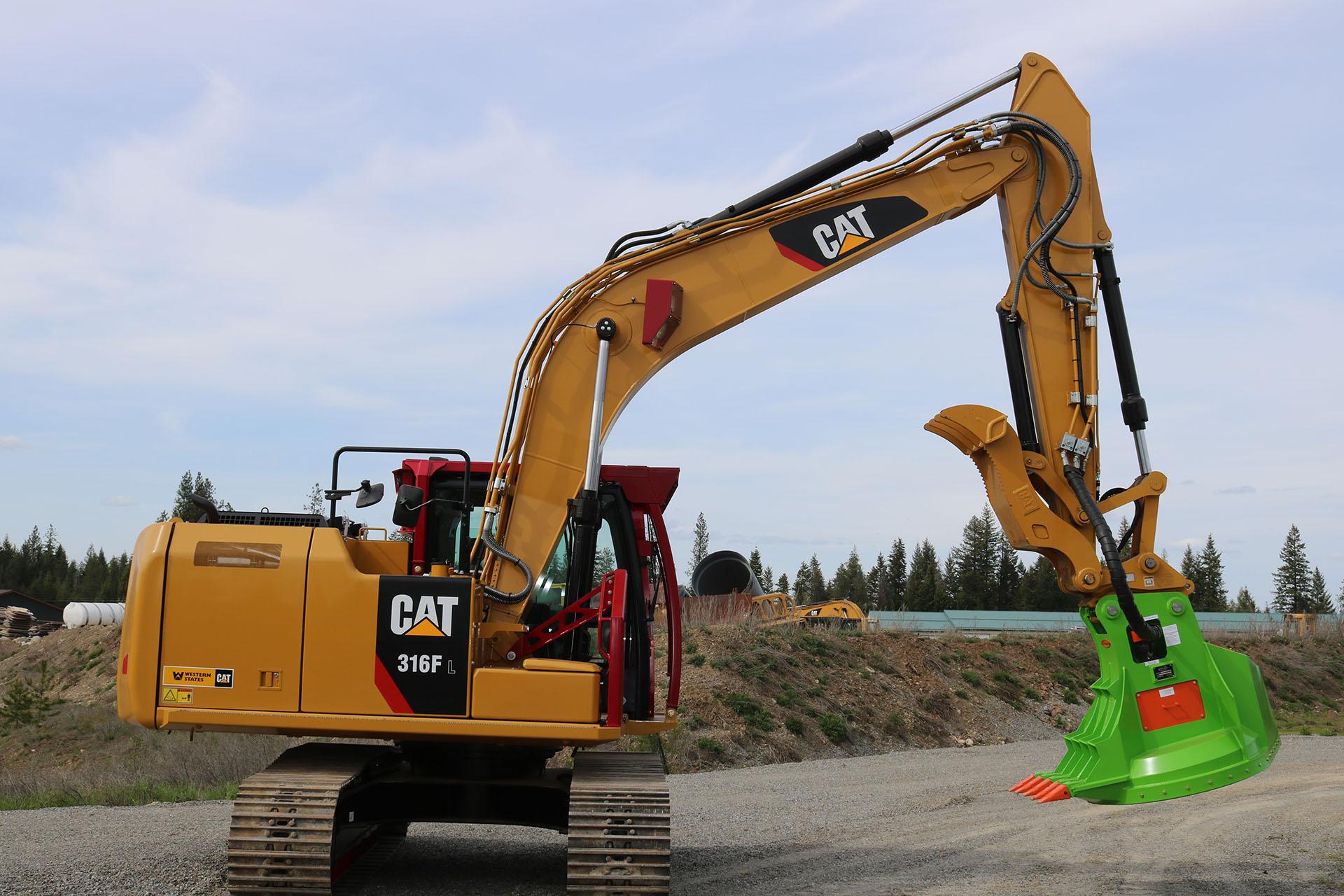 CAT 316F Custom Guarding
