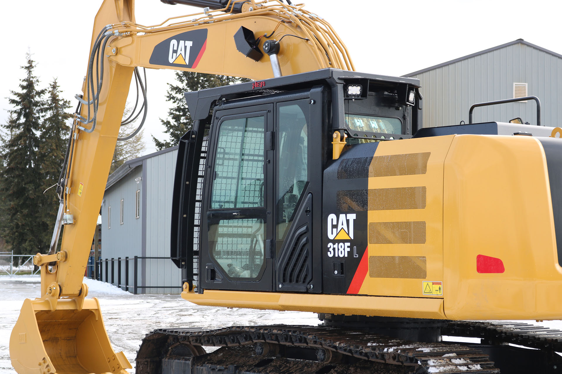 CAT 318FL Bolt on Excavator Guard