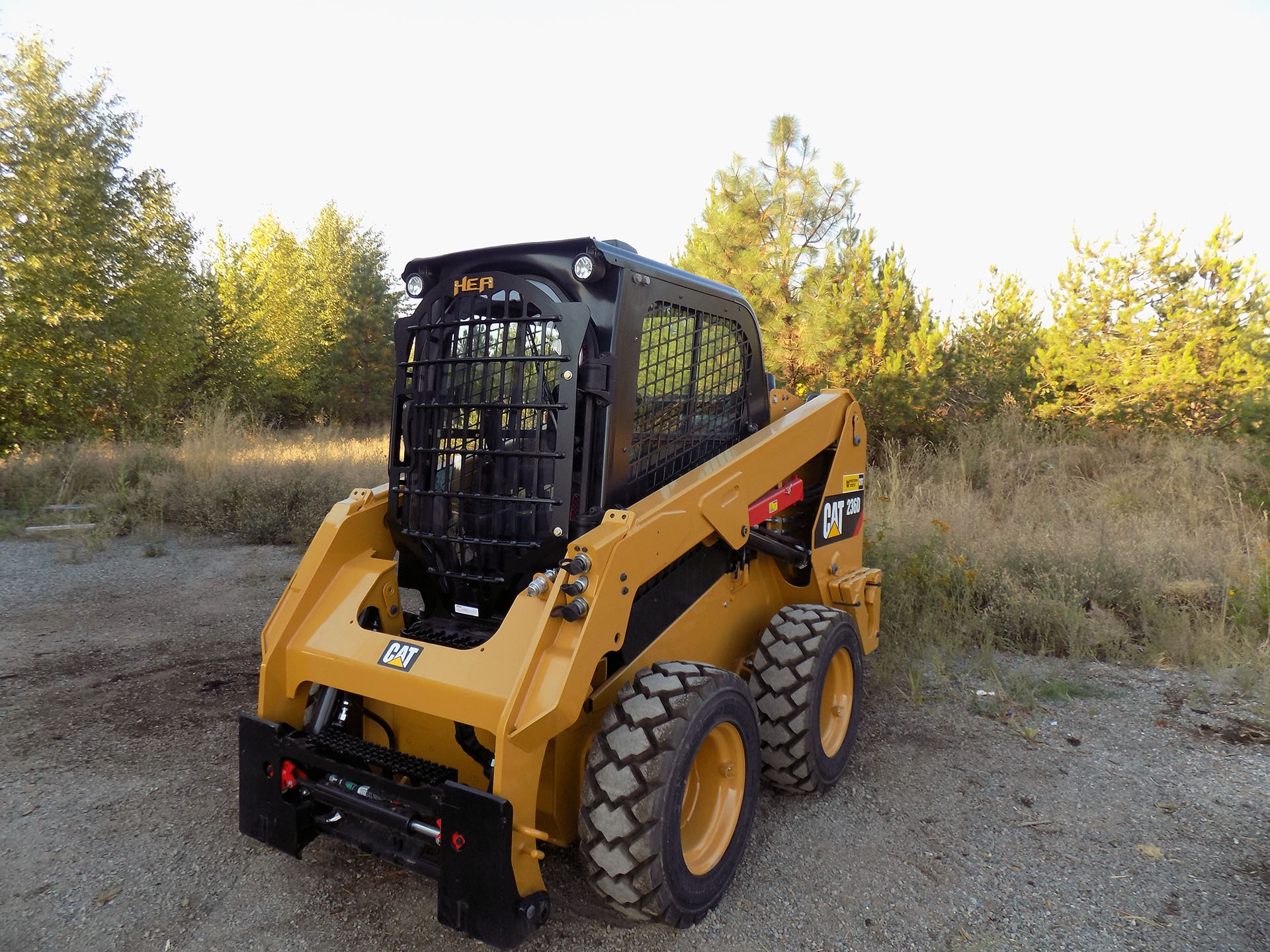 CAT 236D Skid Steer with 2.5x5 Skeleton Door