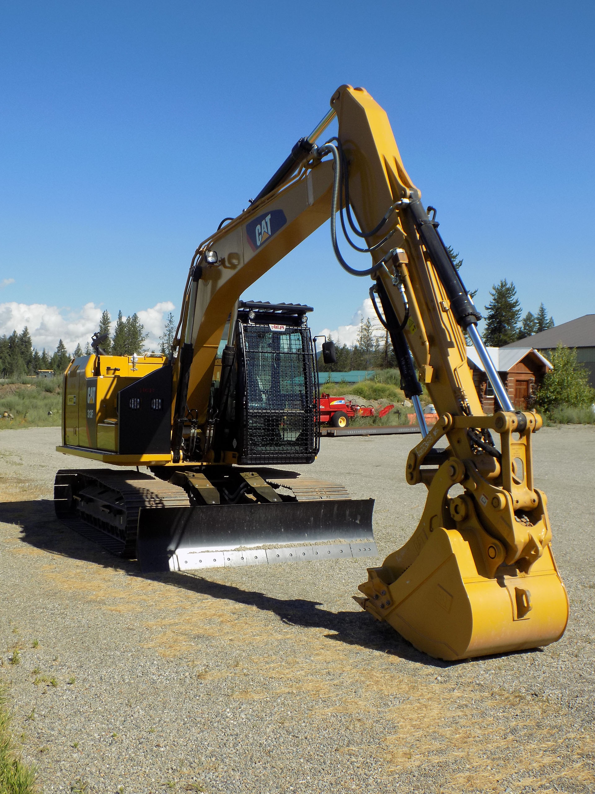 CAT 313F Bolt On Excavator Guard