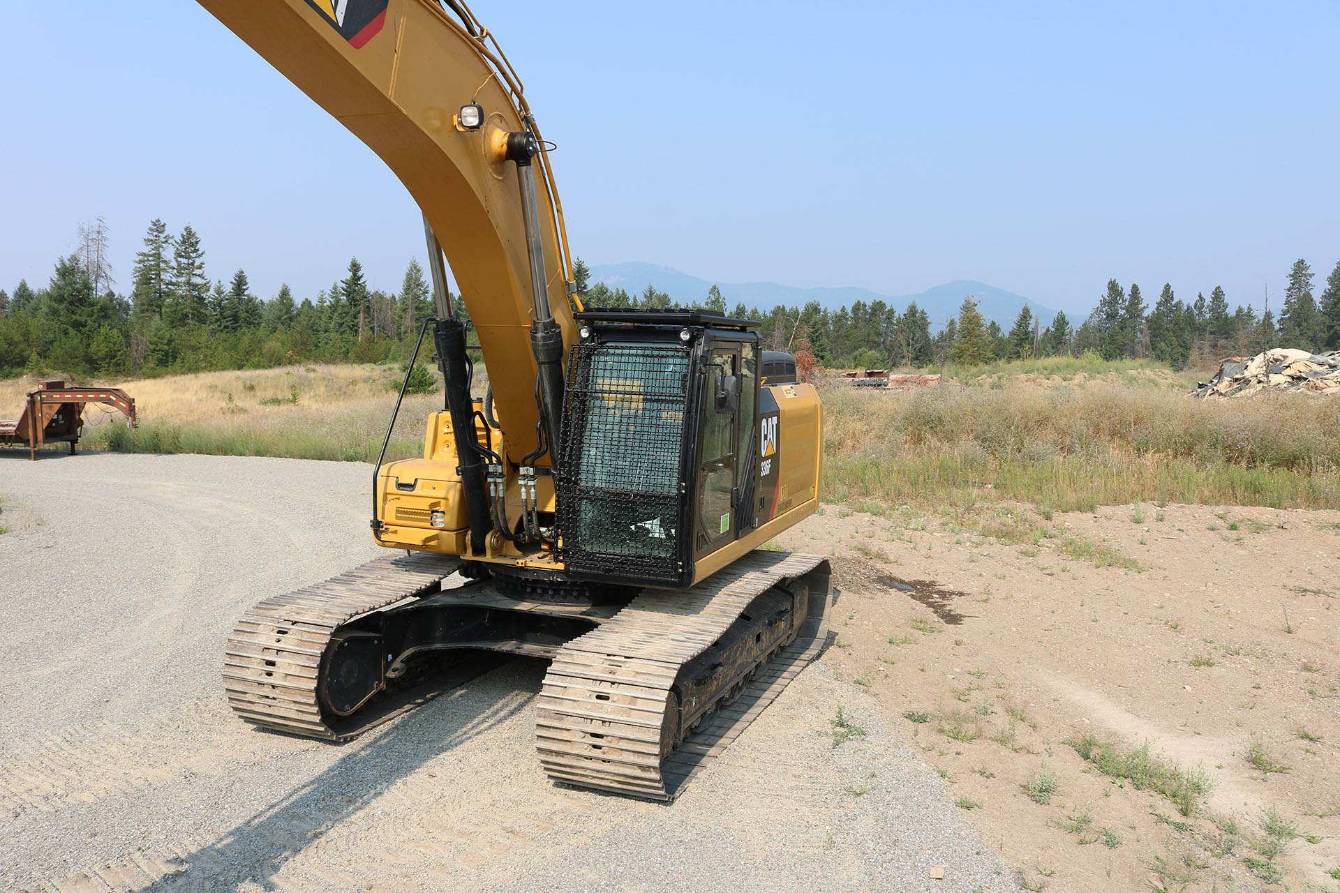 CAT 336F with Bolt on Excavator Guard
