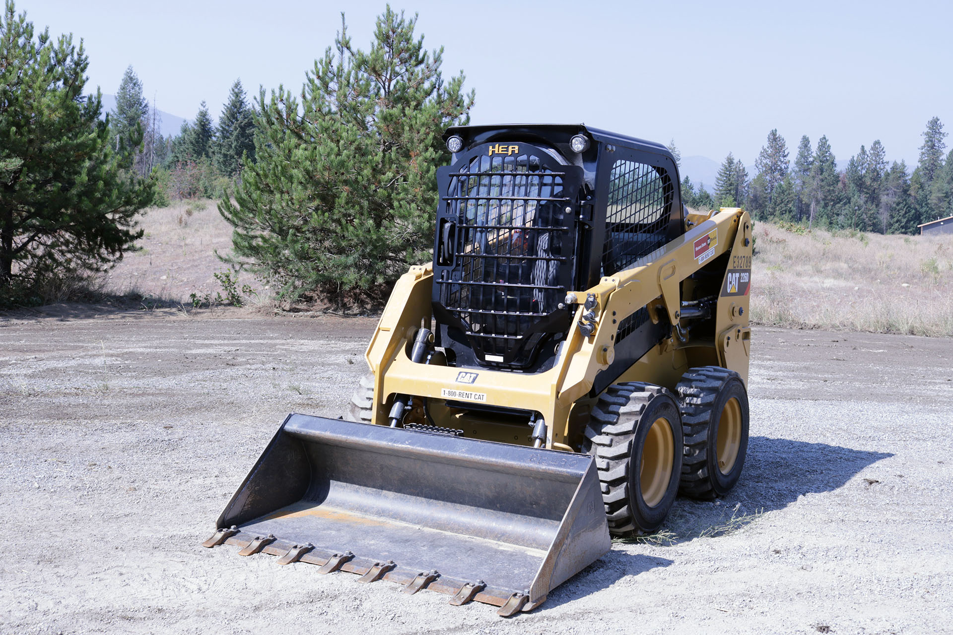 CAT 266D Skid Steer with 2.5x5 Skeleton Door