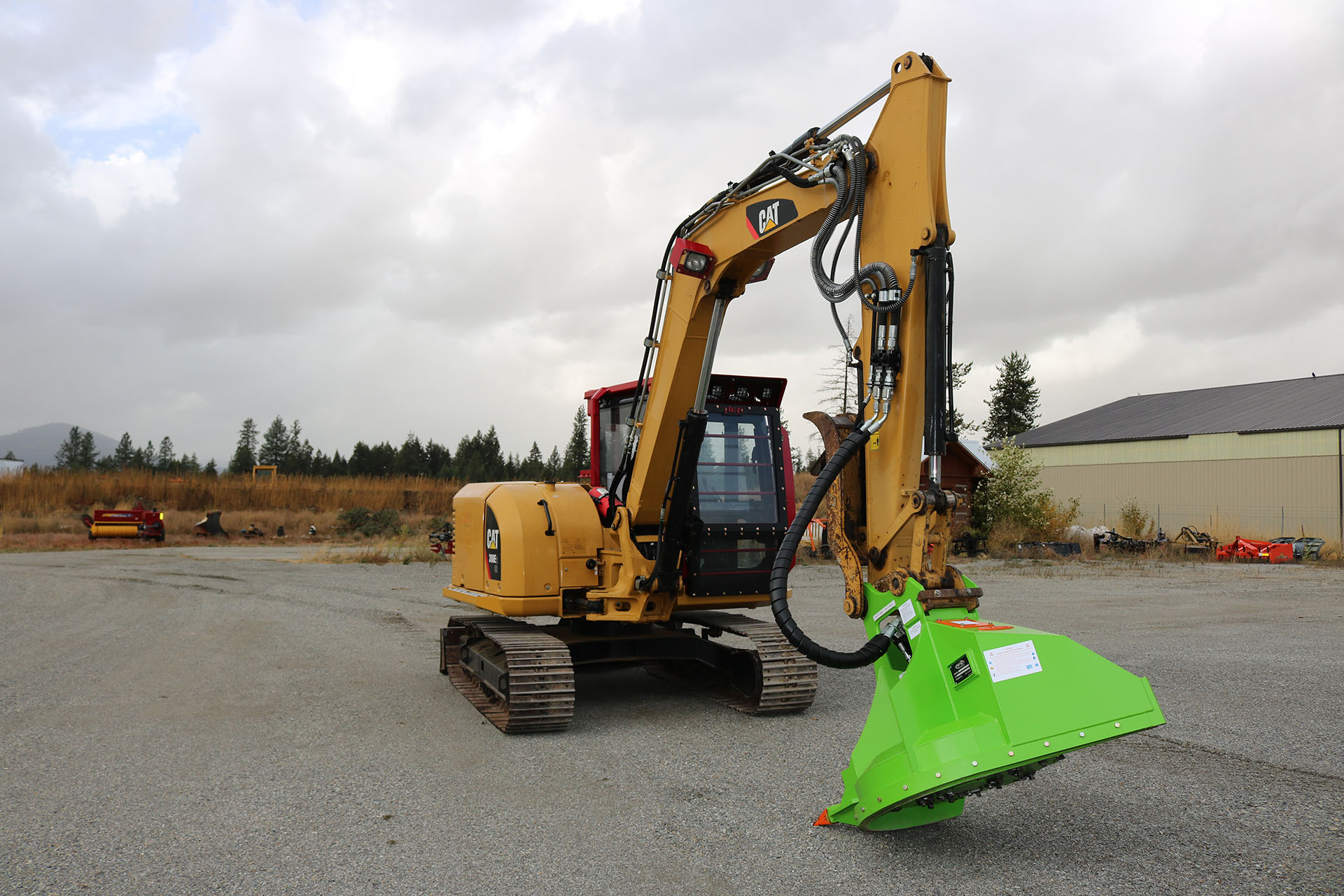 Cat 308E2 with Ballistic Logger Style Window