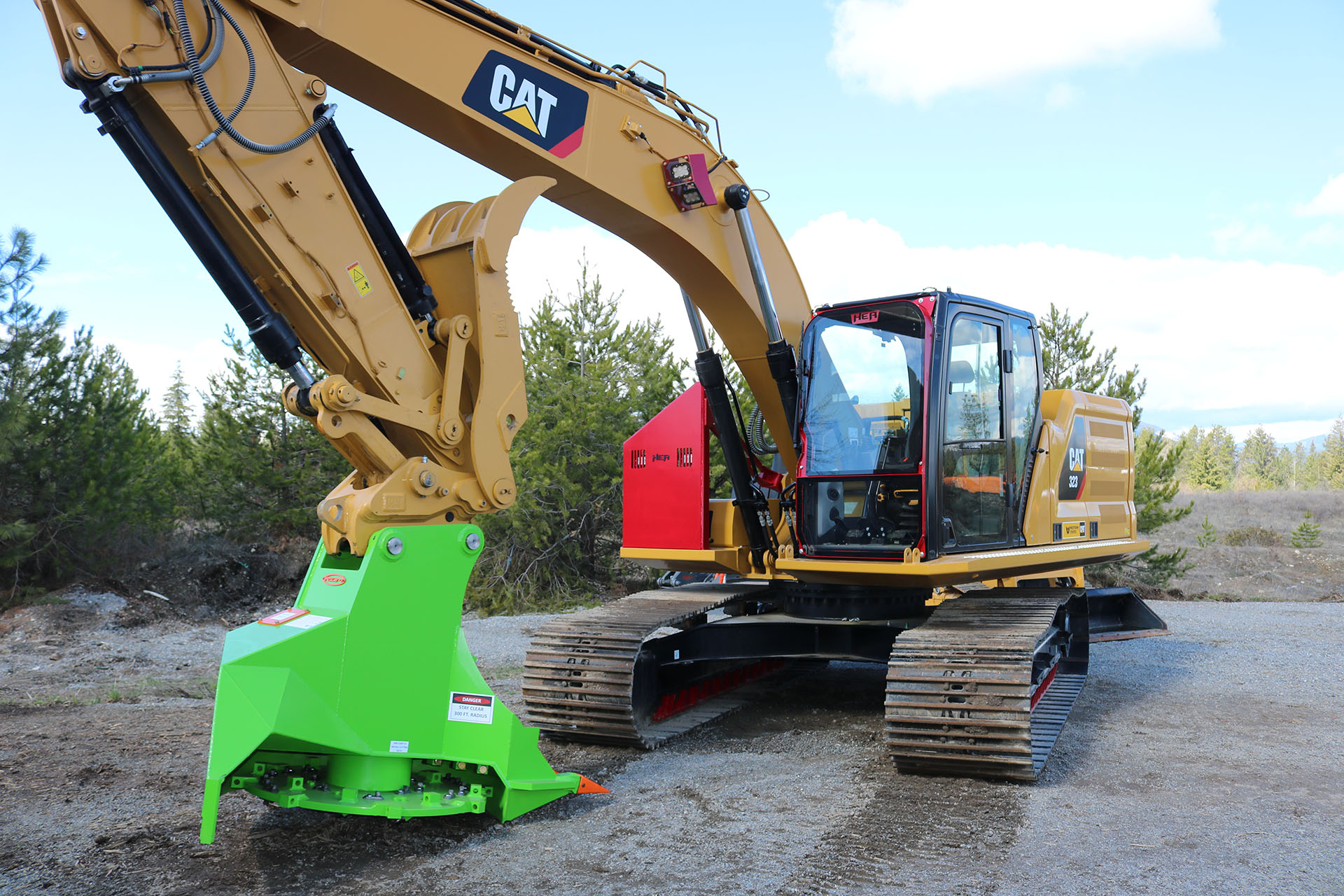 Caterpillar 323 Next Generation with Ballistic Window