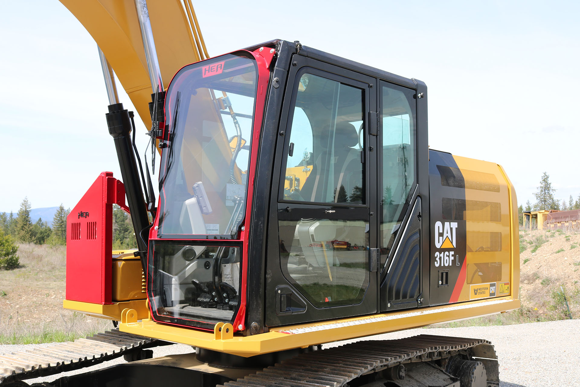 CAT 316F Ballistic Window