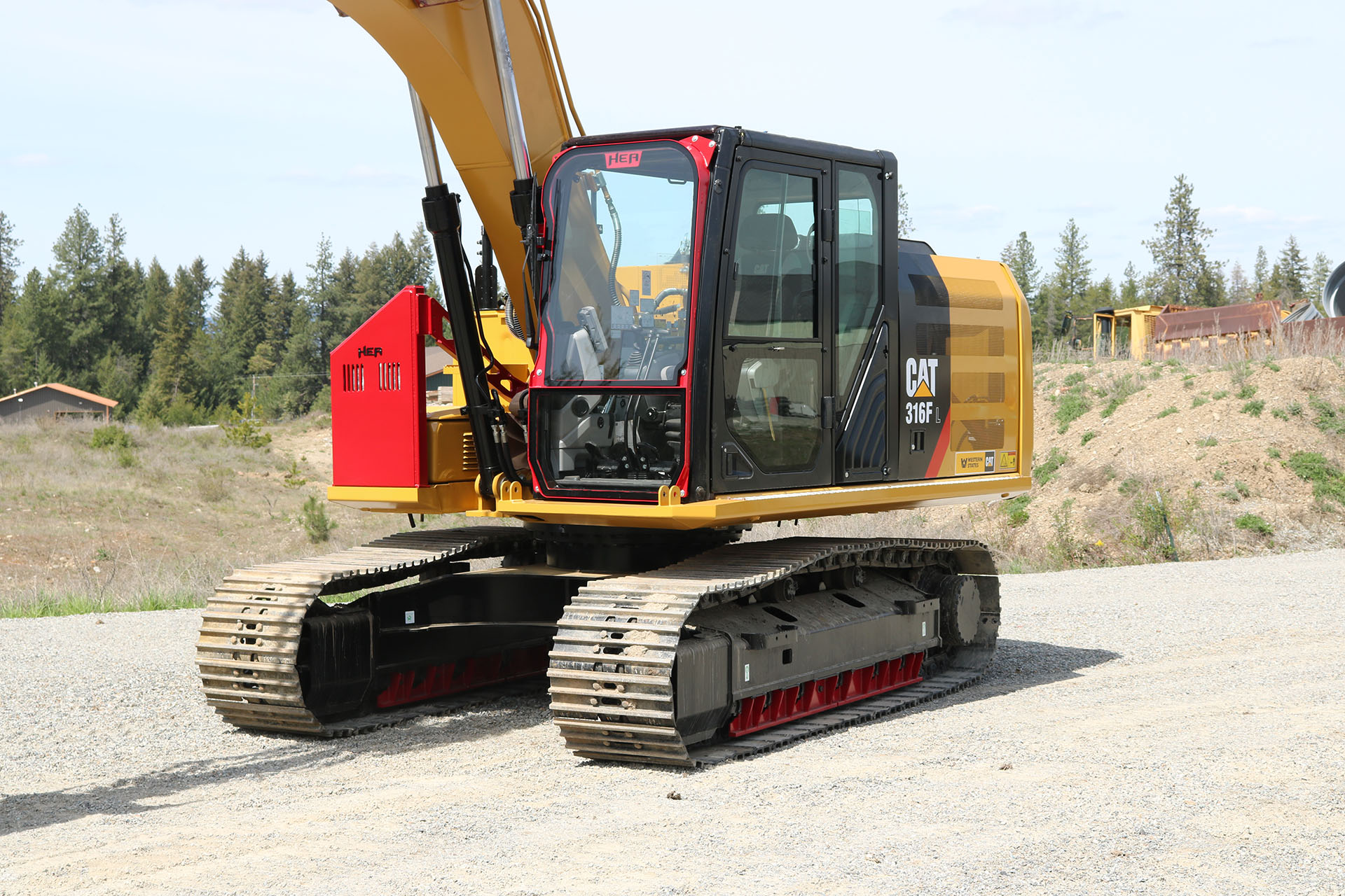 Caterpillar 316F with Ballistic Window