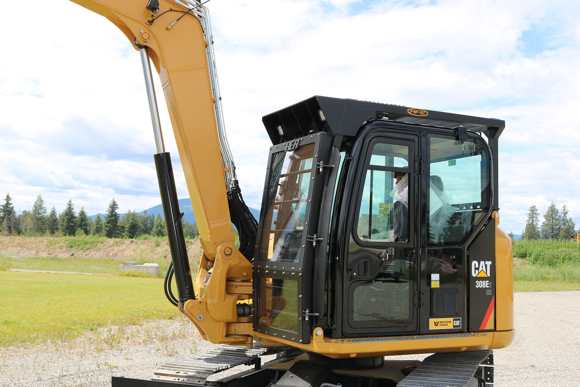 CAT 308E2 CR Custom Guarding