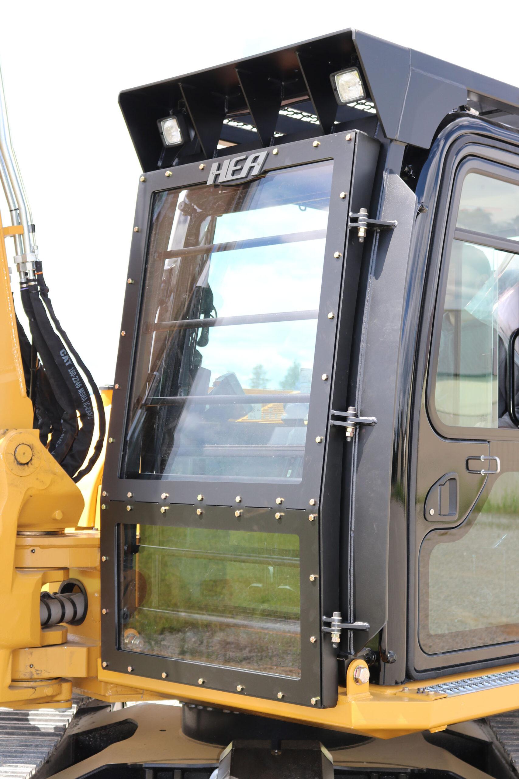 CAT 308EX Ballistic Logger Style Window