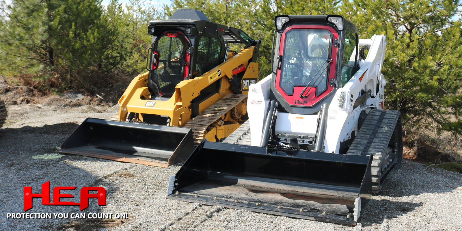 Cab Guards for Excavators - Skid Steer Armor -