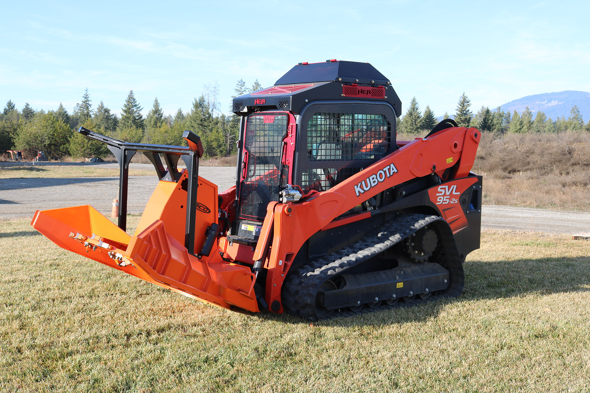 Kubota SVL95-2 Ballistic Door and Cab Guard and Cooler and Eco Mulcher