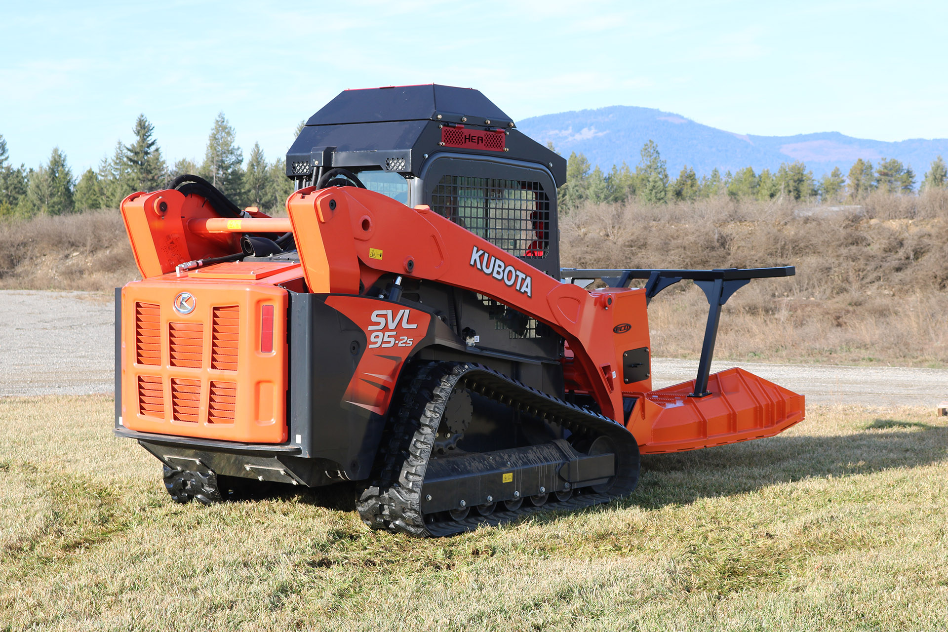Kubota SVL 95-2 Ballistic Door and Cooler