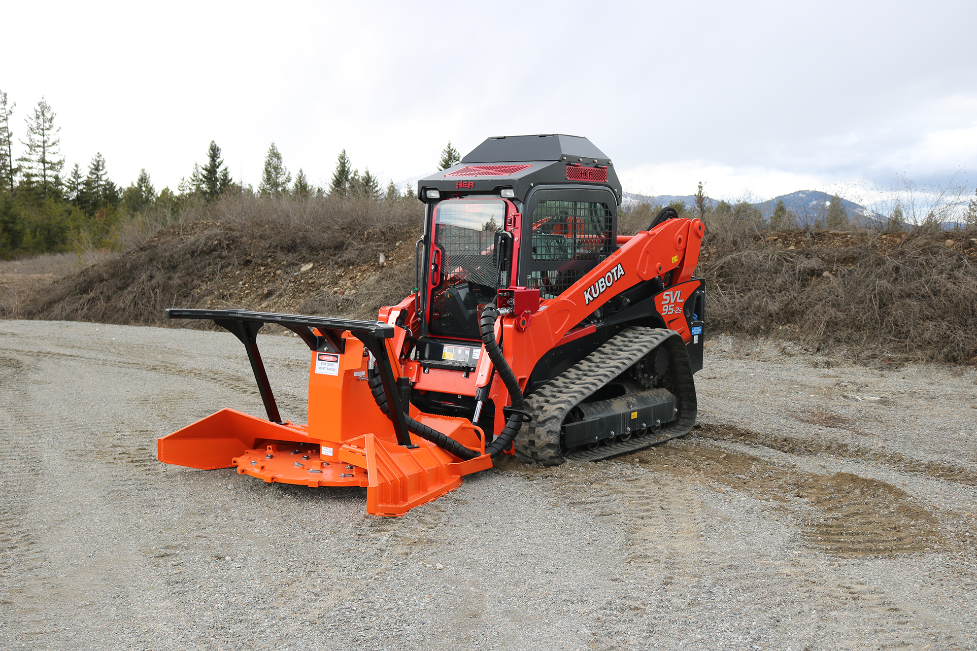 SS Series Skid Steer Forestry Disc Mulchers
