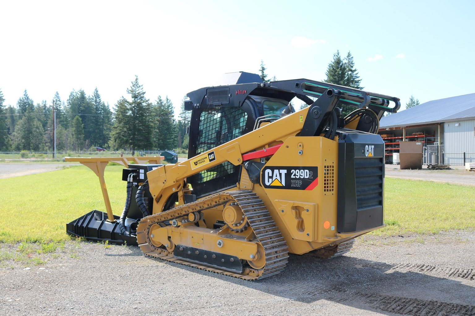 Caterpillar 299D Enhanced Cab Guard with Cooler
