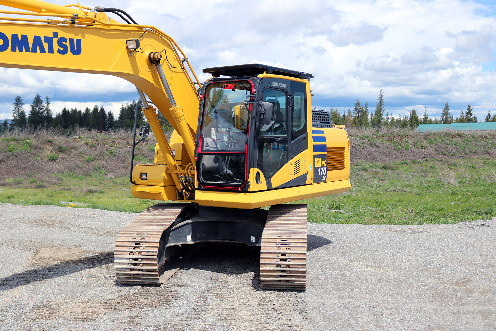 Komatsu PC170 Ballistic Window and Cab Guard