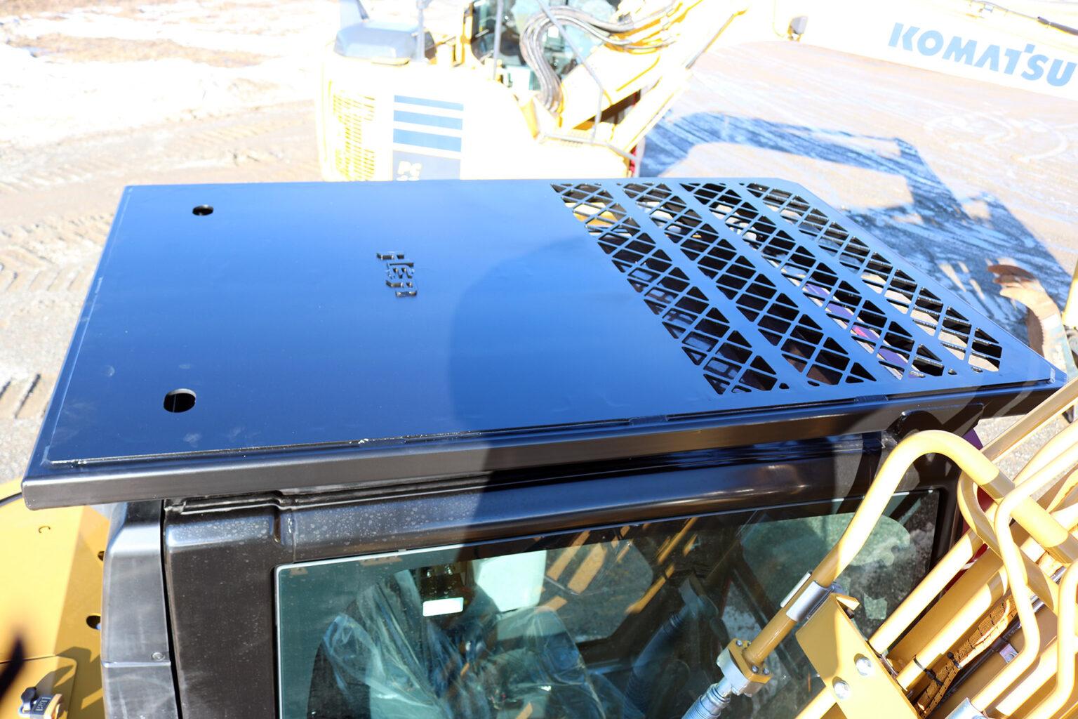 Caterpillar 315 Top Cab Guard and Ballistic Window
