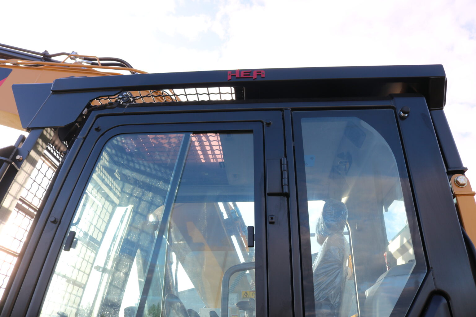Caterpillar 316F Custom Bolt on Screen and Top Cab Guard